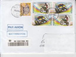 MOLDOVA : MOTOR SPORTS -  BIKE & AUTO On Circulated Cover To ROMANIA - Envoi Enregistre! Registered Shipping! - Moto