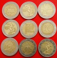§ 9 COMMEMORATIVE COINS: 2 EURO DIFFERENT TYPES! LOW START★NO RESERVE!!! - Munten & Bankbiljetten
