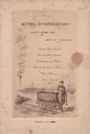 - 59 - Ostricourt -Original Du Menu Des Mineurs Pour La Sainte Barbe De 1925 - - Nord-Pas-de-Calais