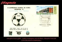 AMERICA. ARGENTINA. ENTEROS POSTALES. MATASELLO ESPECIAL 1978. COPA DE FÚTBOL ARGENTINA 78. PARTIDO ALEMANIA-POLONIA - Enteros Postales