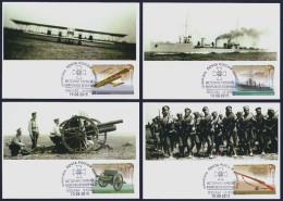 "2015 RUSSIA ""CENTENARY OF WORLD WAR I / NATIONAL MILITARY EQUIPMENT"" MAXIMUM CARDS (MOSCOW) - Cartes Maximum"