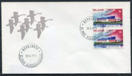 1973 Iceland Reykjavik Nordic House Swans Cover - 1944-... Repubblica
