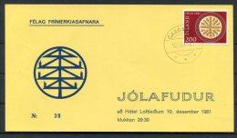 1981 Iceland Christmas Postcard - 1944-... Republique