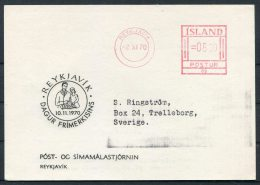 1970 Iceland Reykjavik Franking Machine Postcard - 1944-... Repubblica