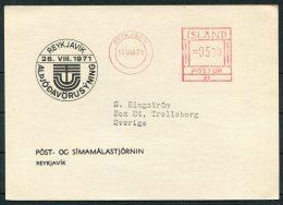 1971 Iceland Reykjavik Franking Machine Postcard - 1944-... Repubblica