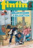 1985-40e Année N°8, BD TINTIN HEBDOMADAIRE ( Recit Complet Brelan De Dames La Malediction, Poster Hugo, ) - Tintin