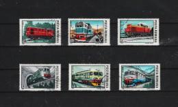 1987 -  LOCOMOTIVES  MI No 4366/4371 Et Yv No 4366/4371 - Usado
