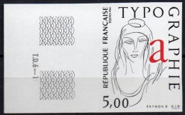FRANCE -  Non Dentelé - La Typographie - LUXE - France
