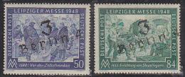 "Germany  Russian Occupation Berlin Leipziger Messe Stamps Set #2 Overprinted ""3 Berlin 4"". Unlisted In Scott. - Zone Soviétique"