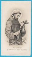 Image Pieuse / Santino / Andachtsbild - St François D´Assise / S. Francesco D´Assisi / Hl. Franziskus Von Assisi - Imágenes Religiosas