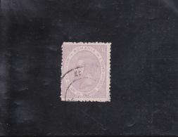 25°ANNIVERSAIRE DU GOUVERNEMENT DE CHARLES 1° OBLITéRé 3 B VIOLET N° 91 YVERT ET TELLIER 1891 - Usati