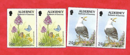 723 - ALDERNEY  N° 75a + 77a**  Neufs - Alderney