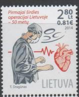 LITHUANIA, 2014, MNH, MEDICINE, HERAT SURGERY, 1v - Other