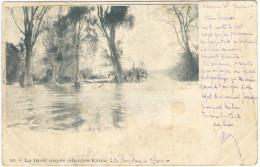 LAOS - 1904 - LA FORET NOYEE (HAUTES EAUX) - 1904 - Indo-China - INDOCHINE - Viaggiata Da Khone, Treng, Saïgon Per Nî... - Laos