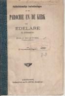 OUDENAARDE / EDELARE :Parochie En Kerk -1876- Gesign Auteur Van De Vyvere - Vecchi