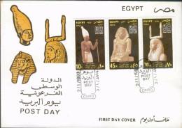 EGYPTE - 1993 - Enveloppe 1e Jour - Poste Aérienne - Pharaons Moyen Empire - Y&T #1473 & AM#216-217 - Égypte