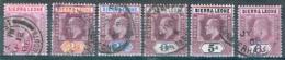 Sierra Leone 1896 Freimarken Edward VII. Michel N°  56, 58-60, 62, 63 Gestempelt - Sierra Leone (...-1960)
