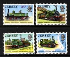 GB JERSEY - 1973 RAILWAY SET (4V) FINE MNH ** - Trains