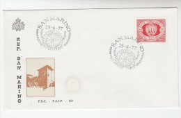 1977 SAN MARINO ROTARY CLUB  EVENT COVER 187 District Assembly Rotary International Stamps - San Marino