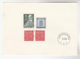 1967 Sweden STOCKHOLM PEA EVENT COVER Card SODERBLOOM Etc Stamps - Sweden