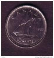 Canada, 1987, 10¢, Bateau, Bluenose, Boat, Dime - Canada
