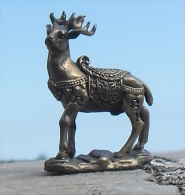 Bronze Miniature Cerf Fonte Cire Perdue Statuette - Bronzes
