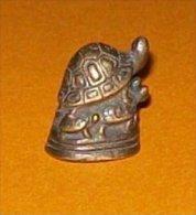 Bronze Miniature Tortue Et Ses Petits Fonte Cire Perdue Statuette - Bronzes