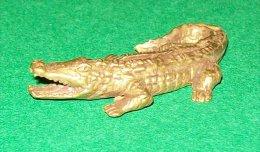Bronze Miniature Crocodile Fonte Cire Perdue Statuette - Bronzes
