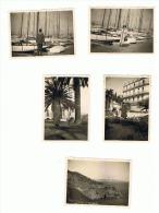 Lot De 5 Photos ( +/- 6 X 9 Cm) CANNES Et Côte Des Maures 1939 (ALB) - Places