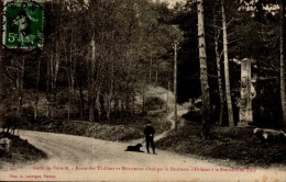 27-FORET DE VERNON..ROUTE DES THILLIERS ET MONUMENT....CPA ANIMEE. - Vernon