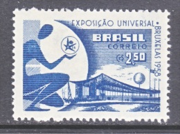 BRAZIL  863     *   BRUXELLES  WORLD  FAIR - Unused Stamps