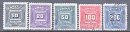 BRAZIL  J 28 -32   *  (o)  1906-10  Issue  No Wmk. - Postage Due