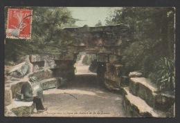 DF / 75 PARIS / PARC DE MONTSOURIS / PASSAGE SOUS LA LIGNE DU CHEMIN DE FER DE SCEAUX / CIRCULÉE EN 1908 - Parks, Gardens