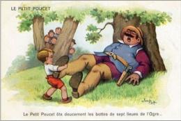 Y31  / CPA ILLUSTRATEUR CONTES FABLES SIGNE JIM PATT / ENFANTS / LE PETIT POUCET TBE - Illustrateurs & Photographes