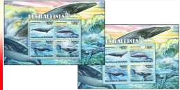 Burundi BL 0163** Et  163ND** - Les Baleines - MNH