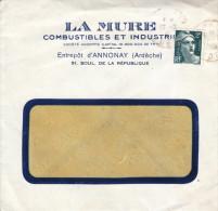 1945 - Lettre à Entête - Annonay (Ardèche) - La Mure Combustibles - FRANCO DE PORT - Otros