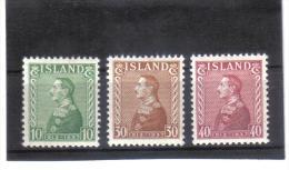 OPK494  ISLAND 1937  Michl 187/89 **  ZÄHNUNG Siehe ABBILDUNG - Ungebraucht