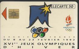 XVIè Jeux Olympiques D'hiver Du 8 Au 23 Férier 1992 à Albertville - Carte Utilisée 50 Unités - N°: A 215822 - Jeux Olympiques
