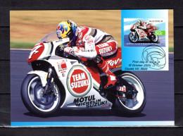 """AUSTRALIE 2004 : Carte Maximum Et PAP Neuf """" VAINQUEURS DE GRAND PRIX MOTOS : DARYL BEATTIE """". Parfait état. CM - Moto"""