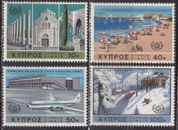 CYPRUS 1967 International Tourist Year Marginal MNH Set Vl. 120 / 123 - Cipro (Repubblica)