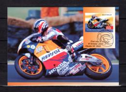 """AUSTRALIE 2004 : Carte Maximum Et PAP Neuf """" VAINQUEURS DE GRAND PRIX MOTOS : MICK DOOHAN """". Parfait état. CM - Moto"""