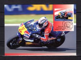 """AUSTRALIE 2004 : Carte Maximum Et PAP Neuf """" VAINQUEURS DE GRAND PRIX MOTOS : GARY McCOY """". Parfait état. CM - Moto"""