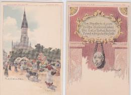 MULHOUSE - Lot De 7 Cpa Pionnières - Vues Mulhousiennes - Litho Hartmann Illustrateur - Bon état - Mulhouse