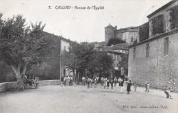 CALLIAN - Avenue De L´Egalité (joueurs De Pétanques) - Ohne Zuordnung