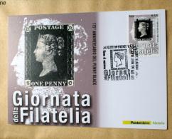 "ITALIA 2015 - GIORNATA DEL FRANCOBOLLO ""PENNY BLACK"" OFFICIAL MAXICARD - Cartes-Maximum (CM)"
