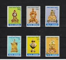 1988  -  PENDULES DU MUSEE DE PLOIESTI  MI No  4443/4448 Et Yv 3798/3803 - 1948-.... Republiken