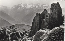 VERBIER PIERRE Á VOIR ET LE MASSIF DU Mt BLANC - VS Valais