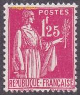 France N°  370 ** Type Paix  De La 5ème Série Le 1fr25 Rose - Unused Stamps