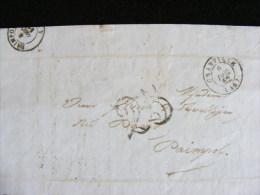 Lettre Avec Marque Postale - Granville 25 - écrite à Granville Par Hué Avocat Envoyée Vers Paimpol Le 5 Décembre 1852 M1 - Marcophilie (Lettres)