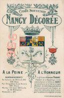 CPA * * NANCY DECOREE * * Carte Souvenir - Nancy
